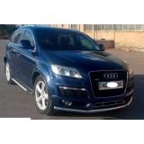 Защита переднего бампера Audi Q7