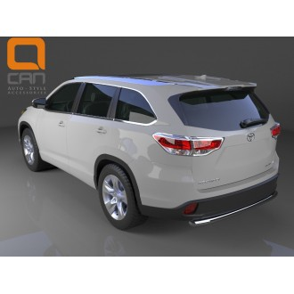 Защита заднего бампера для Toyota Highlander 2014+
