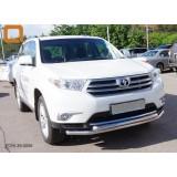 Защита переднего бампера Toyota Highlander 2010+