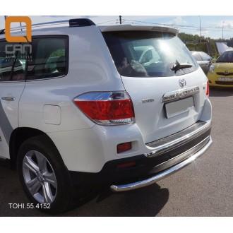 Защита заднего бампера Toyota Highlander 2010+