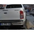 Защита заднего бампера Toyota Hilux
