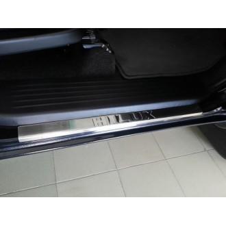 Накладки на пороги для Toyota Hilux