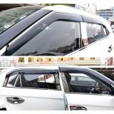 Дефлекторы окон с хромом Hyundai Creta IX25 2017+