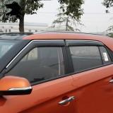 Ветровики с хром полосой Hyundai Creta 2017+