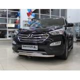Защита бампера двойная Hyundai Santa Fe 2013+