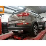 Защита заднего бампера Kia Sportage 2010+