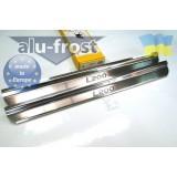 Накладки на пороги Alufrost для Mitsubishi L200
