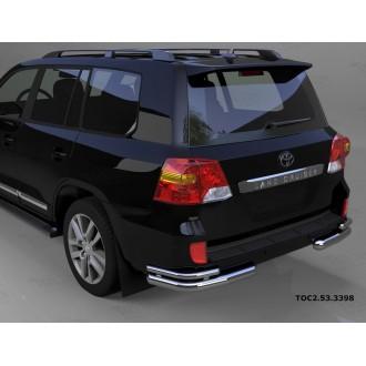 Защита заднего бампера уголки Toyota LC 200