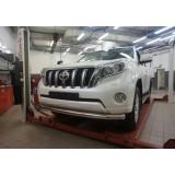 Защита переднего бампера Toyota Land Cruiser Prado 150 2014+