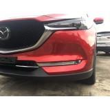 Хром накладки на передние туманки Mazda CX-5 2018+