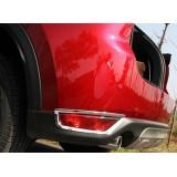 Хром накладки на задние противотуманки Mazda CX-5 2017+