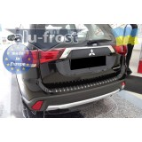 Накладка на задний бампер Alufrost Carbon Mitsubishi Outlander 2016- 2017+