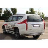 Защита заднего бампера Mitsubishi Pajero Sport 2016+