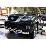 Защита бампера Nissan Pathfinder 2015+