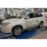 Пороги BMW Mitsubishi Outlander New 2012+