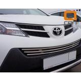 Решетка на бампер Toyota Rav4 2013+