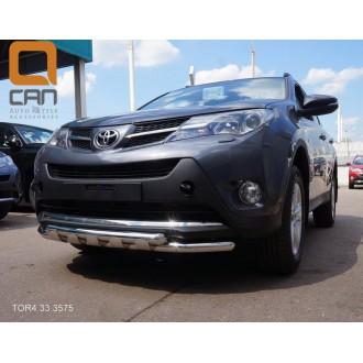 Защита переднего бампера Toyota Rav 4 2013+