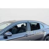 Дефлекторы окон с хром молдингом Toyota Camry V70 2018+