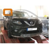 Защита переднего бампера Nissan X-Trail 2014+