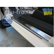 Накладки на пороги Alufrost для Volkswagen Amarok