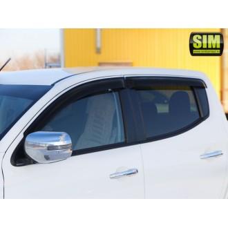 Дефлекторы окон SIM Mitsubishi L200 2016+