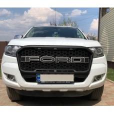 Решетка радиатора стиль Raptor для Ford Ranger 2016+