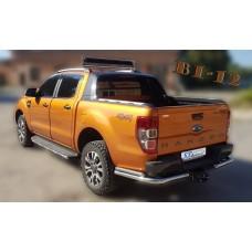 Защита заднего бампера Ford Ranger 2017-2018+