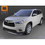 Защита переднего бампера Toyota Highlander 2014+