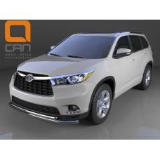 Защита бампера Toyota Highlander 2014+