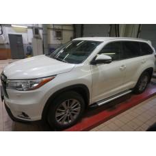 Пороги Brillant для Toyota Highlander 2014+