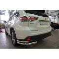 Защита бампера уголки Toyota Highlander 2014+