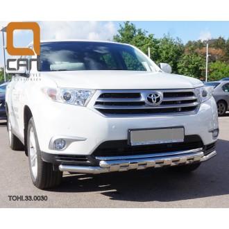 Защита бампера Toyota Highlander 2010+