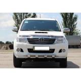 Защита переднего бампера Toyota Hilux