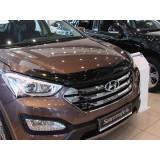 Дефлектор капота Hyundai Santa Fe 2013+