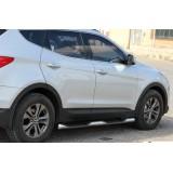 Пороги труба Hyundai Santa Fe 2013+