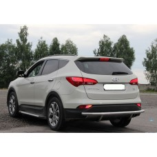 Защита заднего бампера Hyundai Santa Fe 2013+