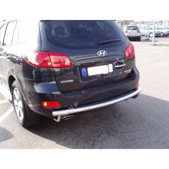 Защита заднего бампера Hyundai Santa Fe 2006+