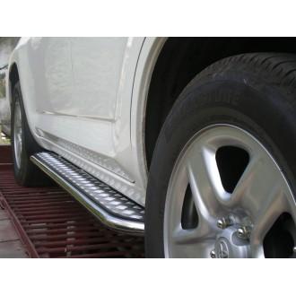 Подножка металлическая Santa Fe 2006+