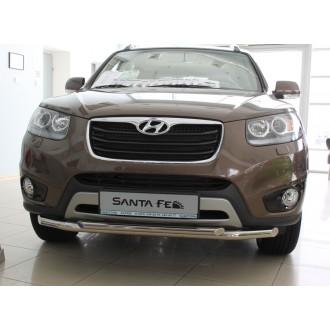 Защита бампера Hyundai Santa Fe 2006+