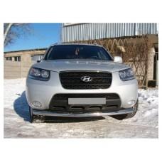 Защита бампера одинарная Hyundai Santa Fe 2006+