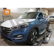 Пороги БМВ стиль Hyundai Tucson 2017+