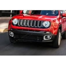 Хром накладки на противотуманные фары Jeep Renegade