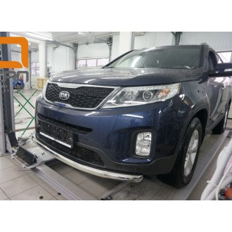 Защита переднего бампера Kia Sorento 2013+