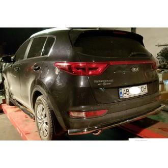 Защита заднего бампера Kia Sportage 2017+