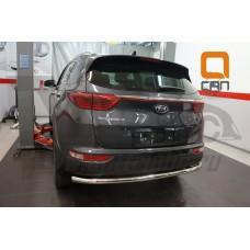 Защита заднего бампера Kia Sportage 2017+ одинарная