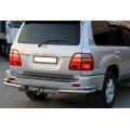 Защита заднего бампера Toyota LC 100