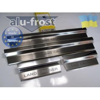 Накладки на пороги Alufrost для Toyota Land Cruiser 100