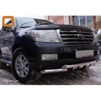 Защита переднего бампера Toyota LC 200