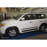 Защита штатных порогов для Toyota LC 200