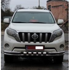 Защита переднего бампера Тойота Прадо 150 2014+